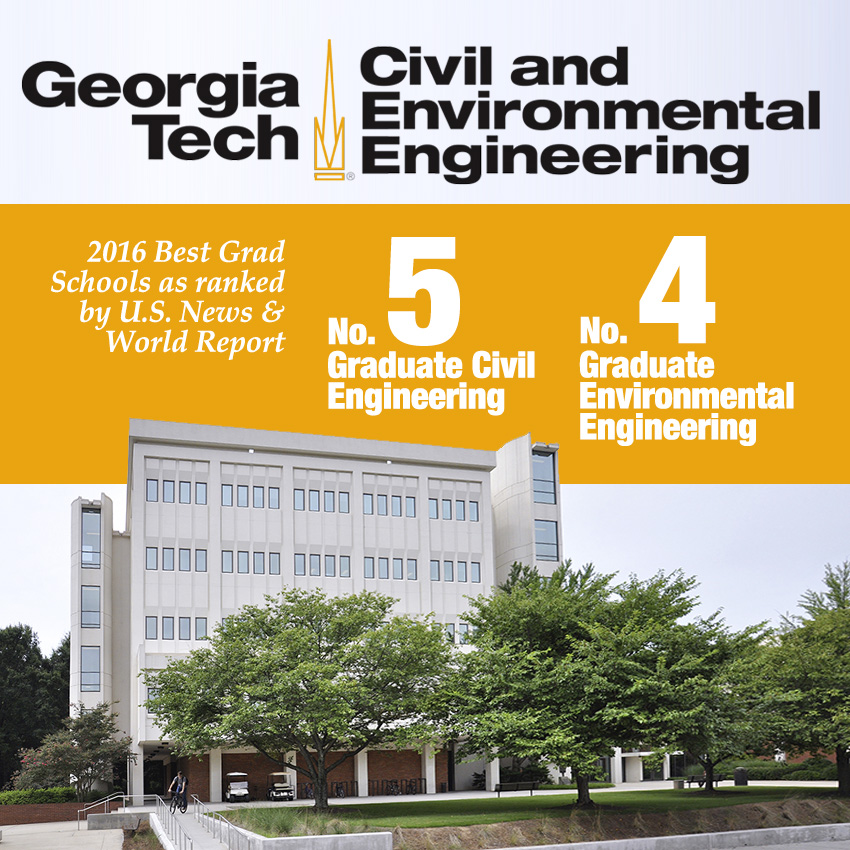 the school of civil and environmental engineerings graduate programs remain among the top five in the nation according to 2016 rankings released march 10