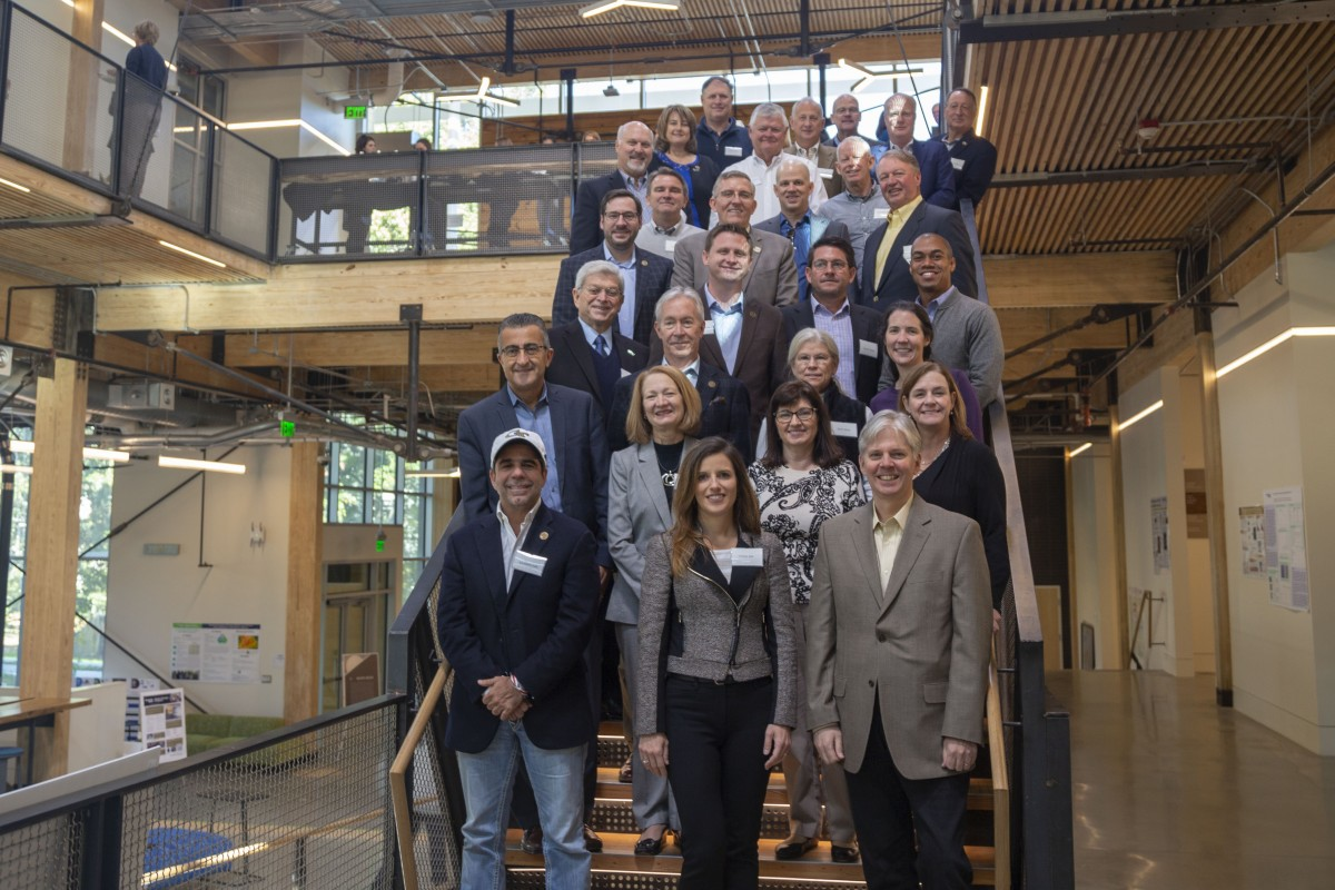 The School of Civil and Environmental Engineering External Advisory Board at its October 2019 meeting. (Photo: Amelia Neumeister)