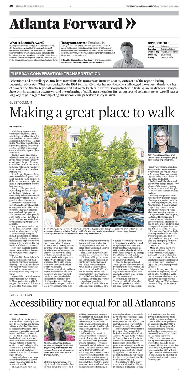 Atlanta Journal-Constitution guest column by Ph.D. student Alice Grossman.