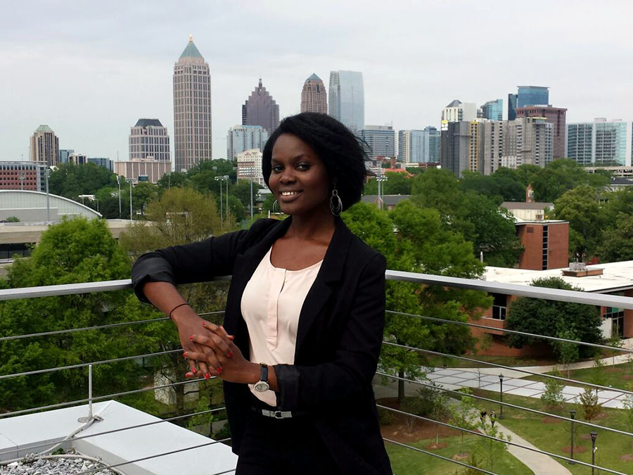 Ph.D. student Stephanie Amoaning-Yankson.