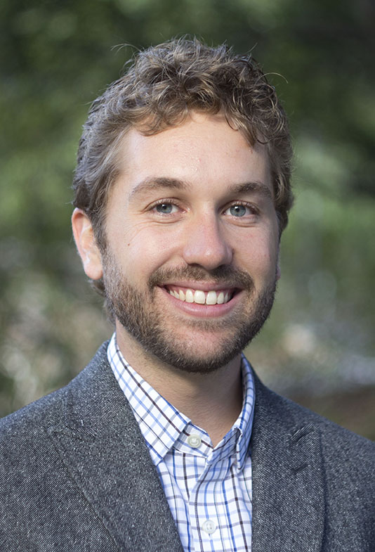 Sam Coogan, who is the new Demetrius T. Paris Assistant Professor.