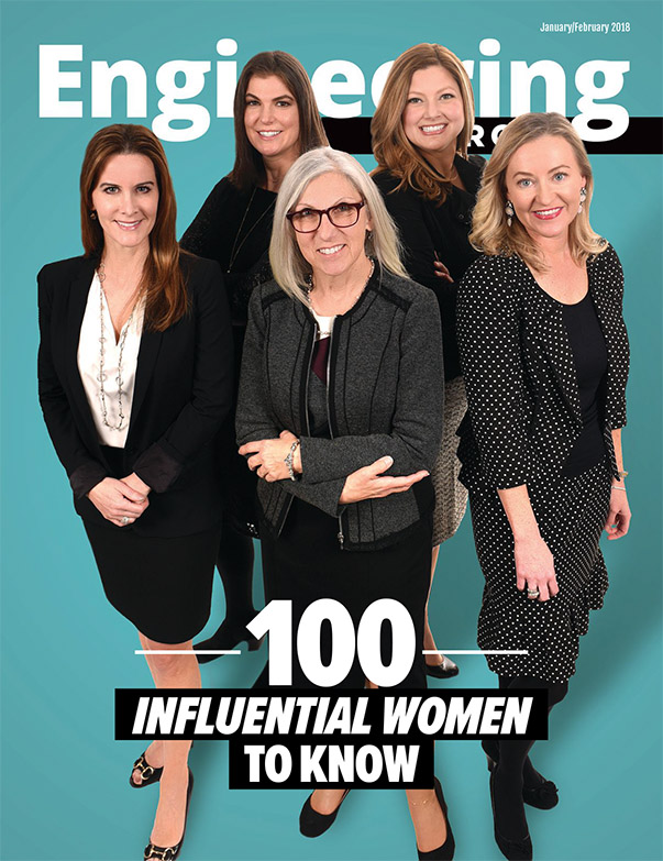 Engineering Georgia January/February 2018 issue featuring 100 influential women to know.