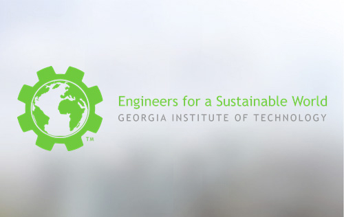 Engineers for a Sustainable World - globe in a gear logo