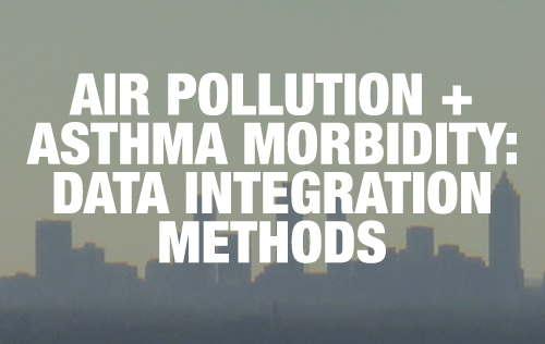 Air pollution and asthma morbidity: Data integration methods