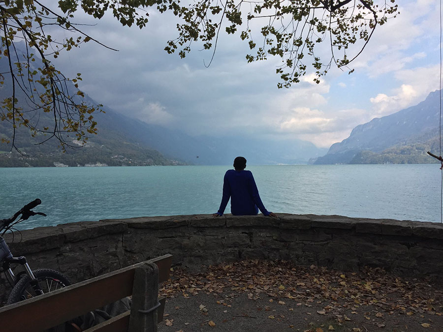 Maimuna Jallow, a civil engineering junior, takes in the view in Interlaken, Switzerland, one of the many places in Europe she visited during her semester at Georgia Tech-Lorraine. (Photo Courtesy: Maimuna Jallow)