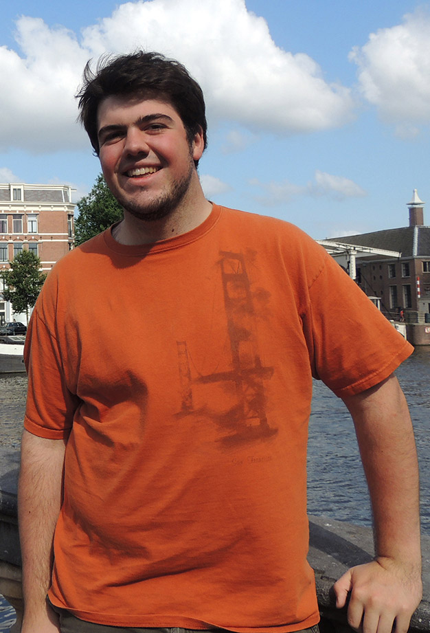 Alex Zickar on a bridge in Amsterdam during his European study abroad trip.
