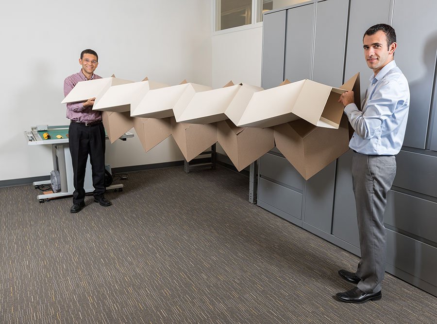 Researchers develop new 'zippered' origami tubes that fold flat, deploy easily, and still hold considerable weight | School of Civil and Environmental Engineering