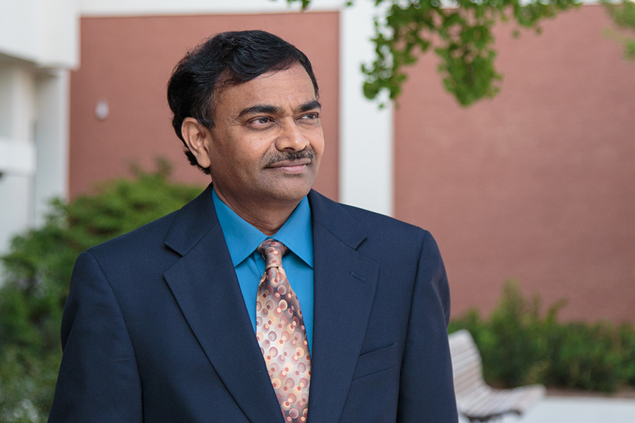 Srinivas Peeta, the Frederick R. Dickerson Chair in the School of Civil and Environmental Engineering. (Photo: Luke Xinjing Xu)