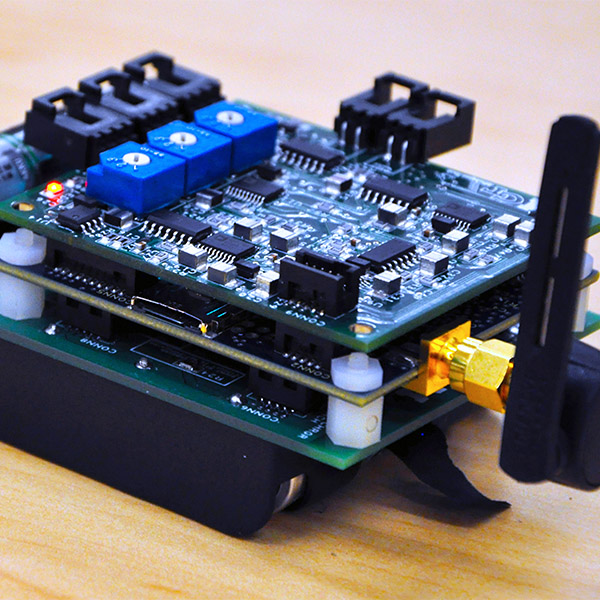 Wireless sensor node developed by Yang Wang