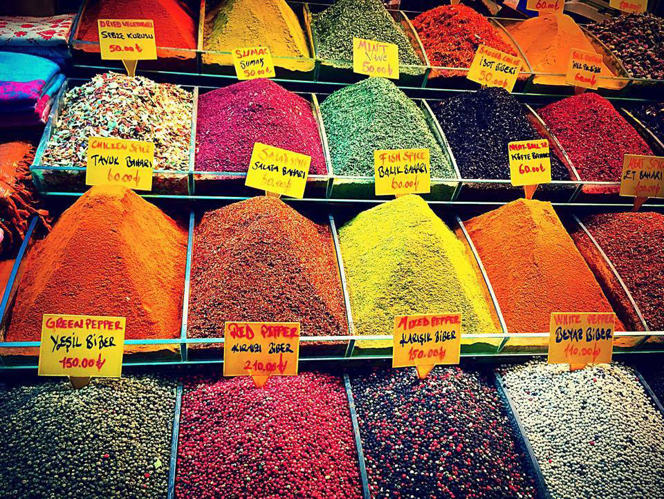 Spices in a market in Istanbul, Turkey, where civil engineering undergraduate Adriel Hsu spent a semester studying at Bogazici University (Photo: Adriel Hsu)
