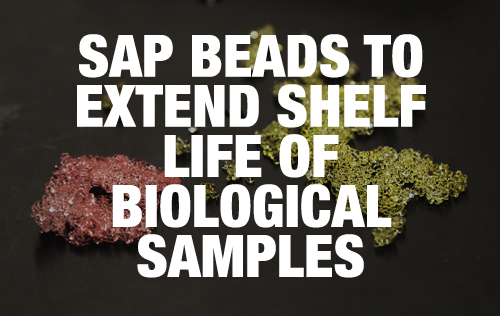 SAP Beads to extend shelf life of biological samples
