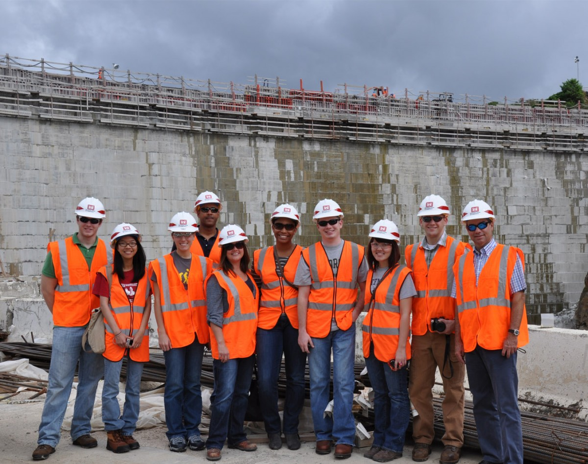 CHAMP faculty and students visited Puerto Rico at the end of 2011 to meet with CEE alumnus Emilio Venegas and tour some of the country's high risk structures in terms of natural hazards.