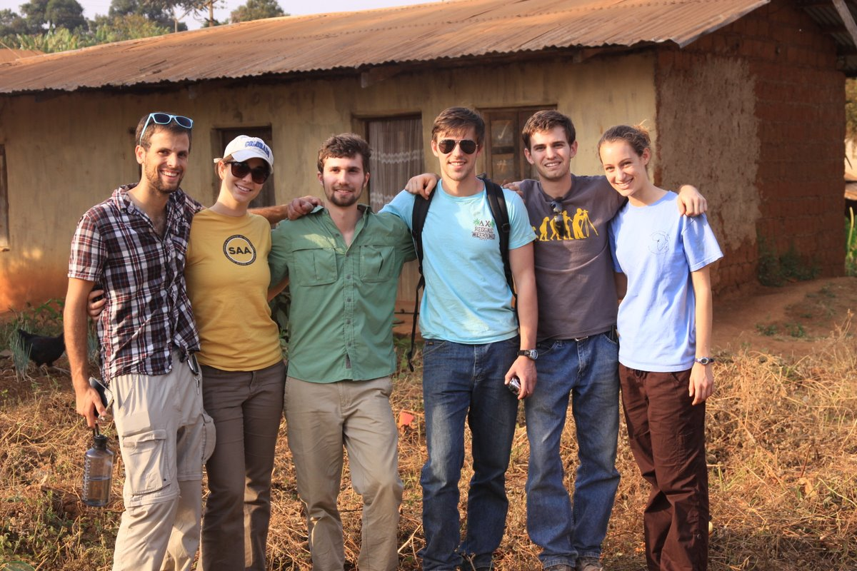 EWB-GT Cameroon project members on their site visit to Mungoa-goa.