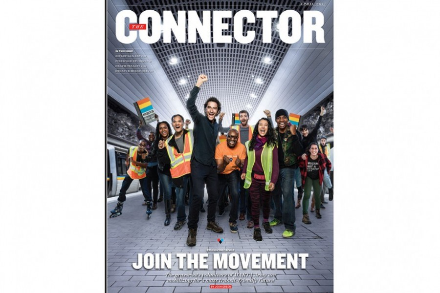 "The cover of ""The Connector"" in ""Atlanta"" magazine featuring the MARTA Army. (Courtesy: ""Atlanta"" magazine)"
