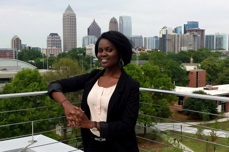 The Eno Center for Transportation has selected Stephanie Amoaning-Yankson for its 2017 class of fellows. The fifth-year Ph.D. student will attend the center's Future Leaders Development Conference this summer to hear from federal officials, transportation policymakers, and business leaders. (Photo Courtesy: Stephanie Amoaning-Yankson)