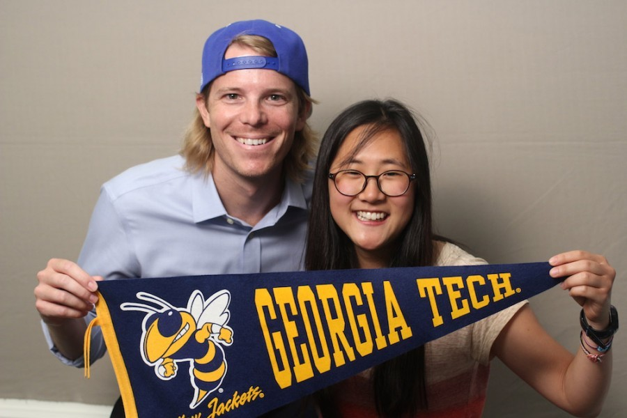 Aaron Bivins and Rebecca Yoo (Photo: StoryCorps Atlanta)