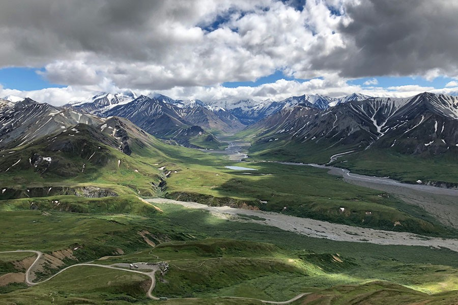 Researchers studied the impact of warming on microbial communities in a tundra area near Denali National Park in Alaska. (Photo: Ted Schuur, Northern Arizona University)