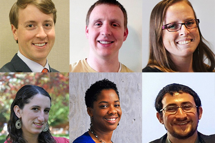 2016 Eisenhower Transportation Fellowship recipients Jack Cebe, Calvin Clark, April Gadsby, Alice Grossman, Janille Smith-Colin and Elliot Sperling