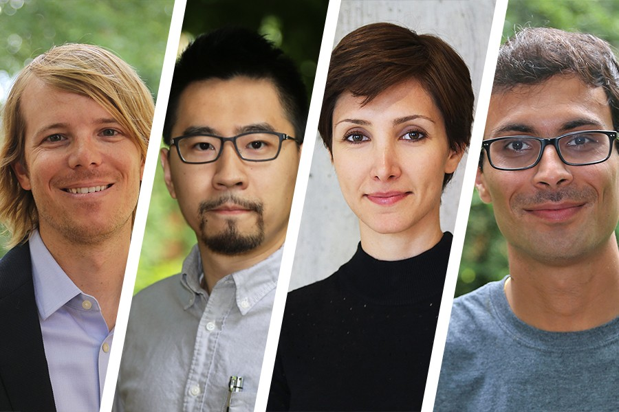 The School of Civil and Environmental Engineering's new Future Faculty Fellows: Aaron Bivins, Albert Liu, Neda Mohammadi and Saubhagya Singh Rathore.
