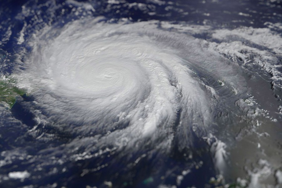 Hurricane Maria on Sept. 20, 2017, based on MODIS/Terra satellite image and processed by Antti Lipponen. (Photo Courtesy Antti Lipponen via Wikimedia Commons)