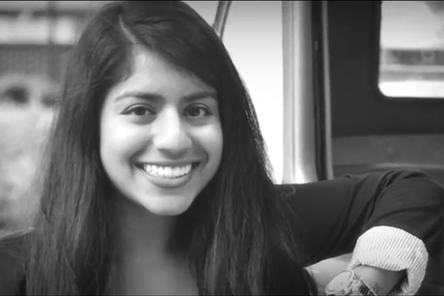 "A screencapture from civil engineering senior Raunac Khandaker's ""Tech Reflections"" audio slideshow."