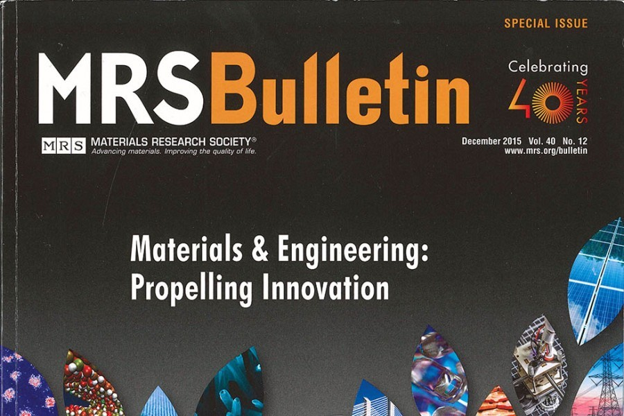Cover of MRS Bulletin December 2015 special issue