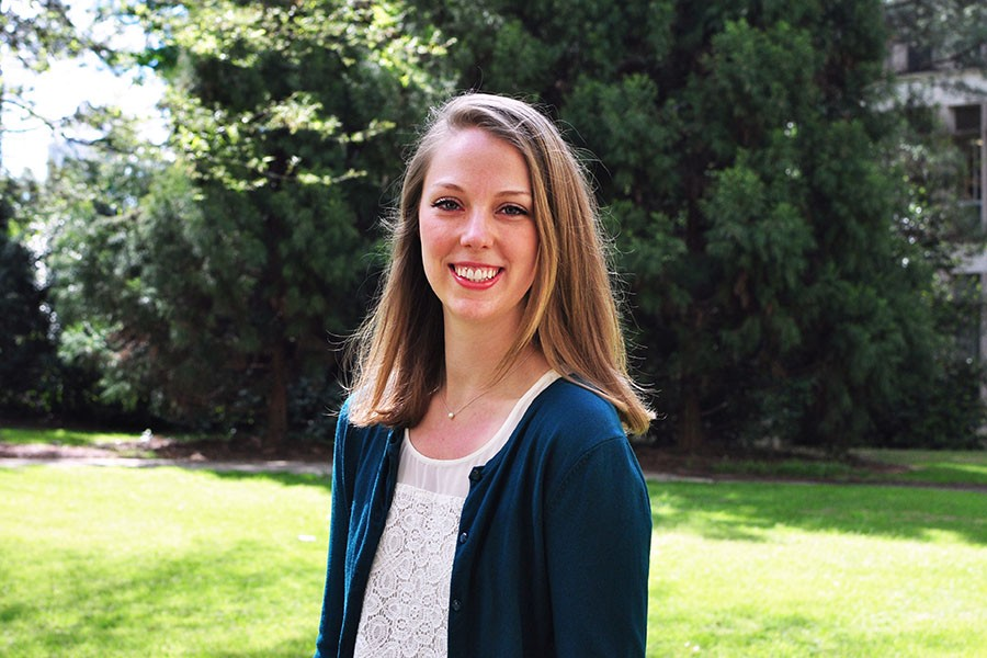 Ph.D. student Laura Mast is one of just 50 students nationwide who will learn how to better communicate the value and impact of their scientific work at a Harvard University conference for grad students in June. (Photo: Jess Hunt-Ralston)