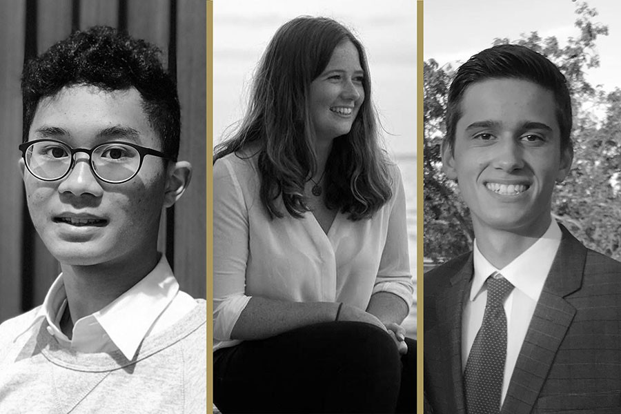 Alex Ip, Abigail Crombie, and Matthew Falcone were selected for the Millennium Fellowship