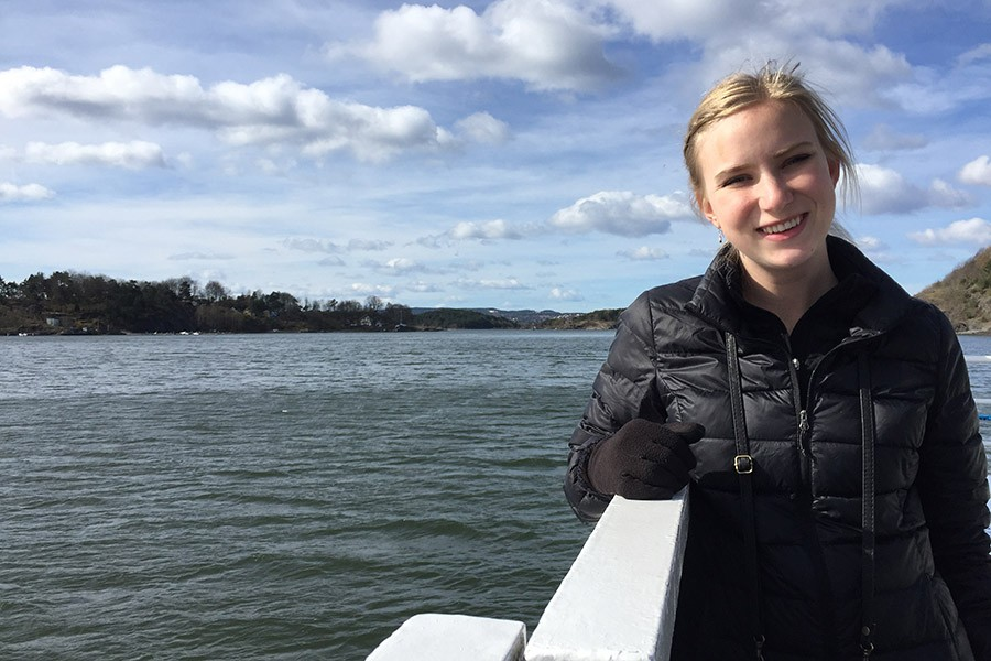 Claire Anderson rides a ferry to the Oslo fjords in Norway. The environmental engineering junior spent the spring semester studying at Lund University in nearby Sweden with support from the Joe S. Mundy Global Learning Endowment. (Photos Courtesy: Claire Anderson)