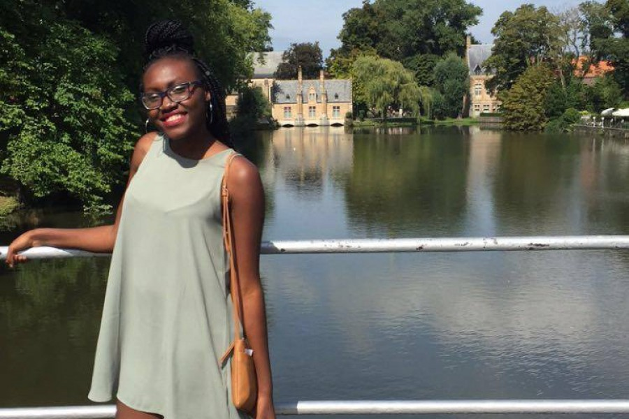 Junior Maimuna Jallow at the Lake of Love in Bruges, Belgium. Jallow studied at Georgia Tech-Lorraine in the fall with help from the School of Civil and Environmental Engineering's Joe S. Mundy Global Learning Endowment. (Photo Courtesy: Maimuna Jallow)
