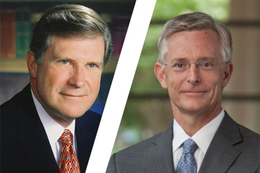 Alumni Leo Vecellio and Bill Calhoun have been selected as fellows of the National Academy of Construction. (Photos Courtesy: Vecellio Group and Clark Construction)