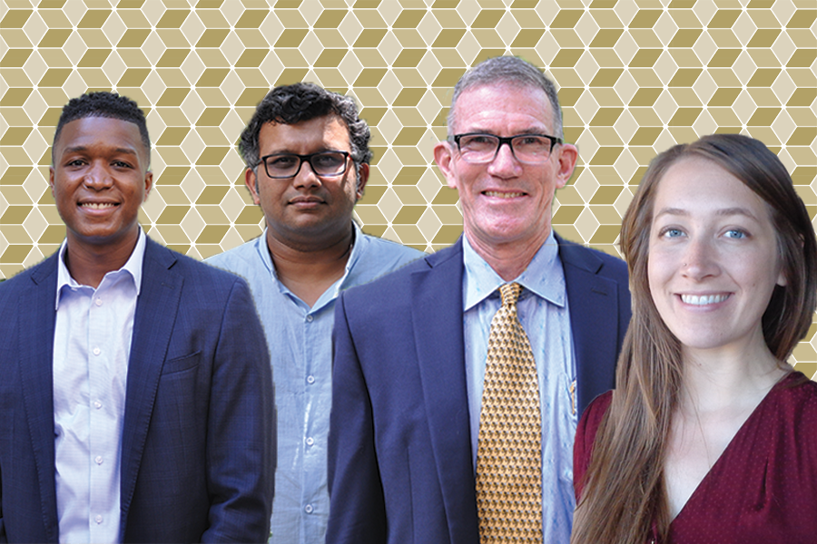 New CEE Faculty: Bozeman, Pinto, Meyer, Graham (left to right)