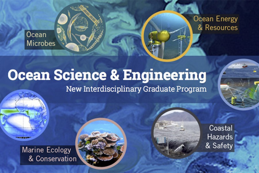Ocean Science and Engineering webpage screenshot