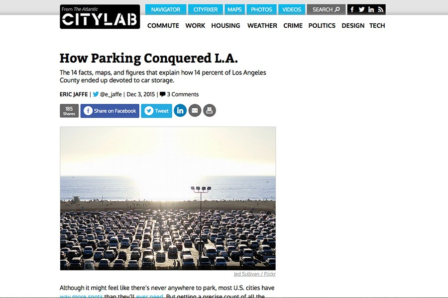 Screen shot of CityLab story about parking in Los Angeles.