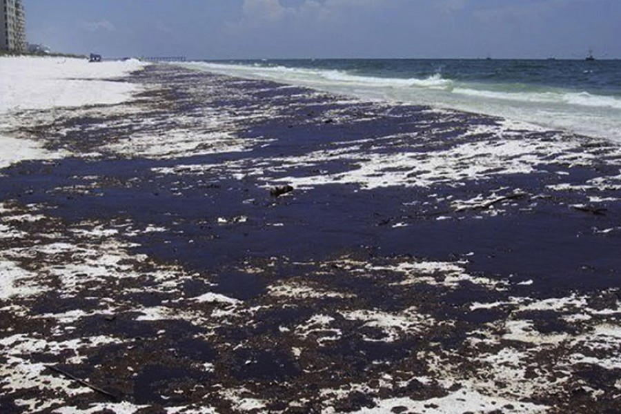 Pensacola Beach in the Florida Panhandle, one of the areas where oil washed ashore after the Deepwater Horizon oil spill in April 2010. (Photo Courtesy: Smruthi Karthikeyan)