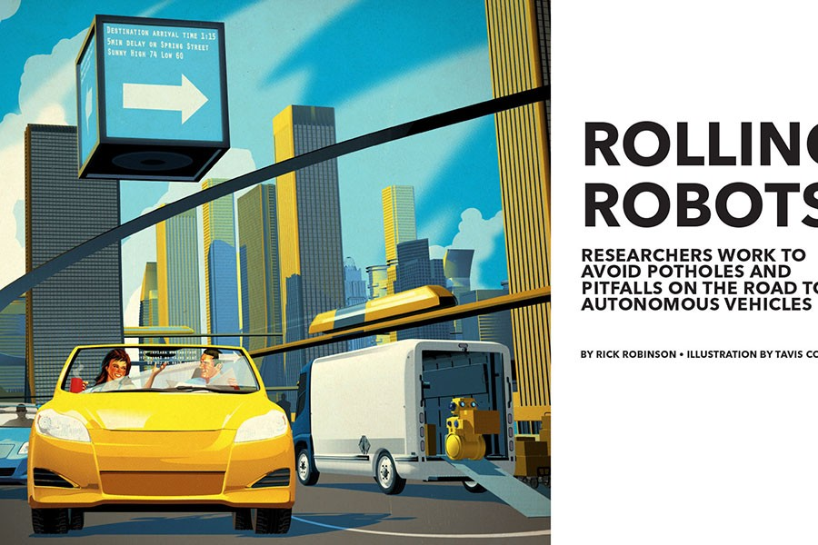Research Horizons illustration for Rolling Robots story