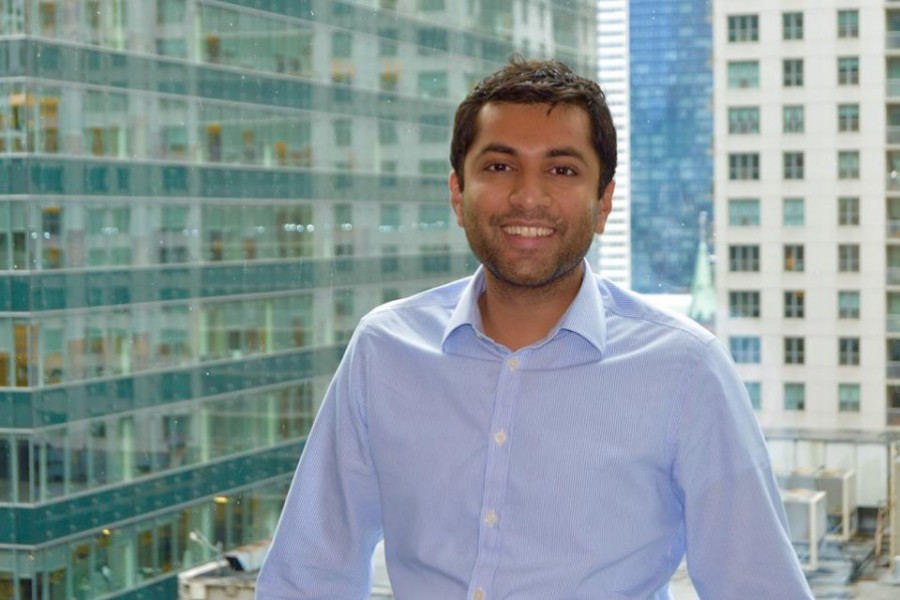 Alumnus Falak Shah has been named to a select group of young leaders who represent the Chicago Council on Global Affairs' next generation, the Young Professionals Ambassadors. (Photo Courtesy: Falak Shah)