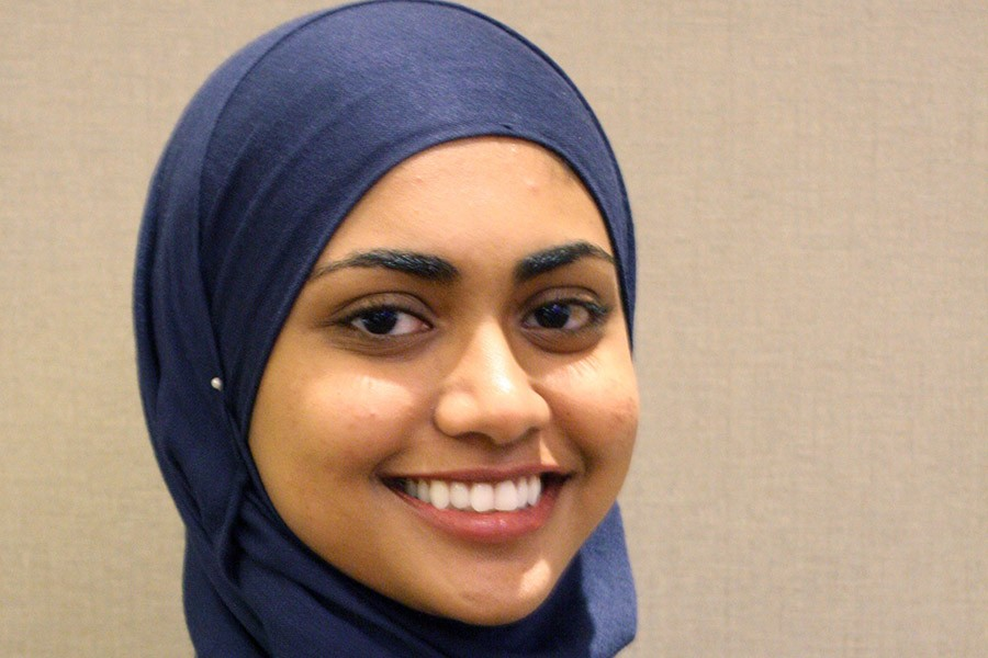 Ph.D. student Atiyya Shaw, who is the student of the year for the Center for Teaching Old Models New Tricks.