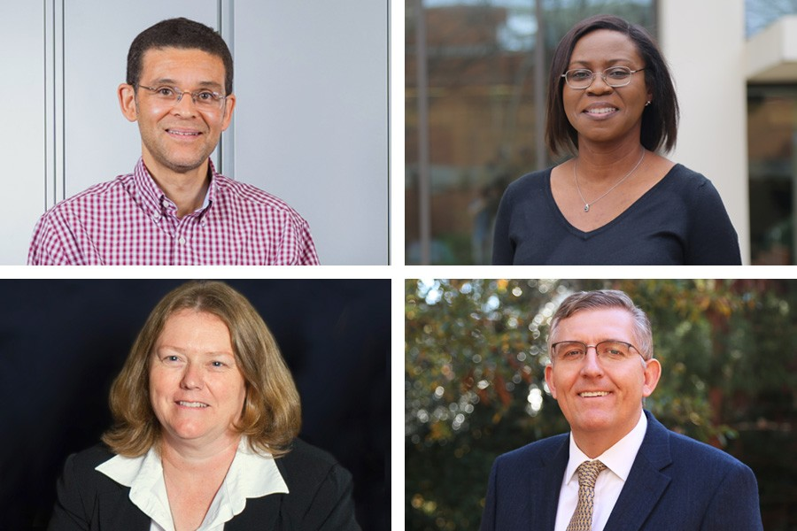 Glaucio Paulino, Adjo Amekudzi-Kennedy, Susan Burns and Donald Webster have been named four of the most-effective teachers at Georgia Tech, according to end-of-course surveys of their students.