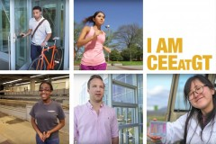 I am CEEatGT video series, featuring five undergraduates and their experiences as civil and environmental engineering students.
