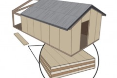 A drawing shows potential new temporary barracks for Army troops built with cross-laminated timber. Researchers Lauren Stewart and Russell Gentry have received funding from the U.S. Forest Service to create designs for the barracks. (Image Courtesy: Lauren Stewart)