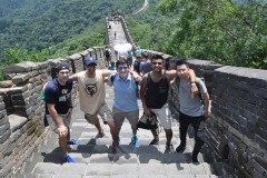 The International Disaster Reconnaissance Studies class on the Great Wall of China, one of their first stops during their two-week trip to China and Japan.