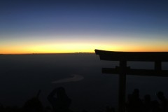 The sunrise from the top of Mt. Fuji in Japan in August 2016. Students in the International Disaster Reconnaissance Studies class that semester hiked all night to reach the top of the mountain in time for this view. (Photo: Kieron McCarthy)