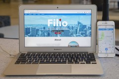 A laptop computer and iPhone show the Filio web app and mobile app, respectively. (Photo: Amelia Neumeister)