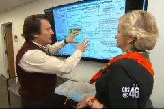 Professor Aris Georgakakos explains his models of the Apalachicola-Chattahoochee-Flint river system to CBS46's Sally Sears.