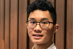 First-year student Alex Ip.