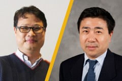 Associate Professors Yong Cho and Jingfeng Wang, who have earned tenure at Georgia Tech.