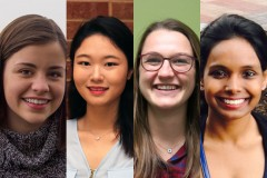 WTS Atlanta Chapter scholarship winners Michelle Henriques, Susan Jin, Becca Kiriazes and Abhilasha Saroj.