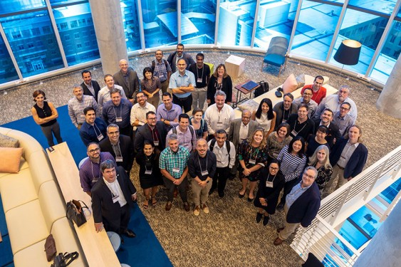 National leaders in smart city digital twin technology gathered at the Coda Building at Georgia Tech Sept. 16-17. Photo By: Amelia Neumeister