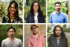A composite photo featuring six portraits of the future faculty fellows